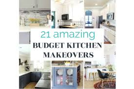 kitchen makeovers with cabinets 21 of of the best budget kitchen makeovers 1000