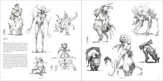 character and creature design notes the use of silhouettes in
