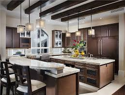 kitchen with two islands fascinating kitchen layouts with two islands and two level
