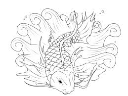 koi fish coloring page color art therapy various pages
