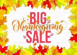 thanksgiving sale poster or autumn fall season discount promo