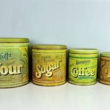 kitchen canisters green flour sugar canisters edubay