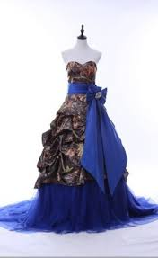 pink camo wedding gowns luxurious ups camo wedding gown with blue sash and