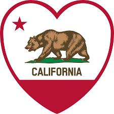 California Flag Bear Clipart California Flag Heart