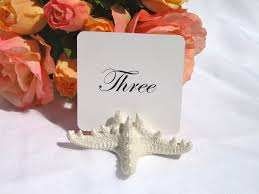 pearlized starfish table number card holder u2013 gallery360 designs