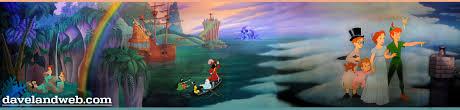 full mural from peter pan u0027s flight ride disneyland for