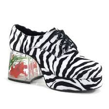 men u0027s faux zebra fur goldfish heel retro disco pimp halloween