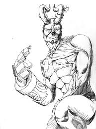 hellboy coloring pages amalgam contest 102 hellboy and artist show off comic vine