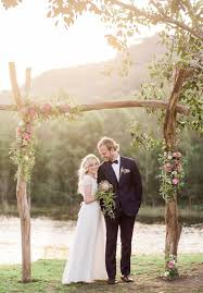 wedding arch greenery woodland ceremony arch
