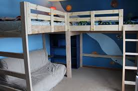 How To Make A Loft Bed With Desk Underneath by 25 Diy Bunk Beds With Plans Guide Patterns