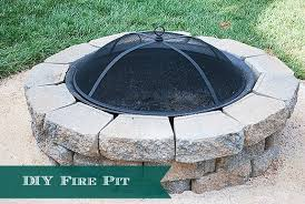 Diy Backyard Fire Pit Ideas How To Build A Diy A Backyard Fire Pit 11 Magnolia Lane