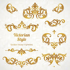 vector set of vintage ornaments in style ornate element