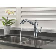 Pullout Kitchen Faucets Delta Faucet 4197 Dst Cassidy Polished Chrome Pullout Spray