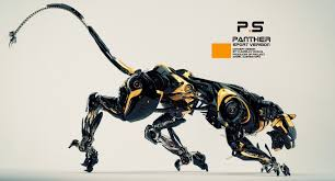 cyber panther jumping bulldozer