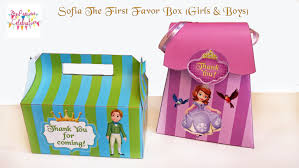 sofia the birthday ideas sofia the favor boxes boys and sofia birthday