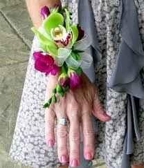 Prom Wristlets Orchid And Freesia Corsage Products Local Florist In San Diego
