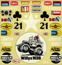 vintage jeep logo tamiya wild willy