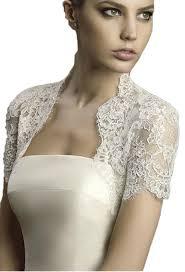 albizia ivory lace short cap sleeves tulle bridal wedding bolero