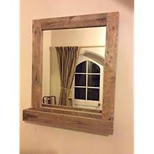 Rustic Bathroom Mirrors - rustic bathroom mirror made from reclaimed pallet wood amazon co