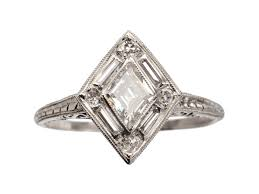 1920s engagement rings 1920s deco diamond shaped ring erie basin