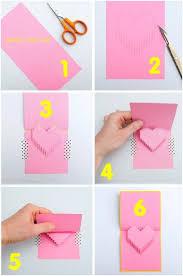 cara membuat kartu ucapan i love you membuat kartu ucapan unik dengan pop up 3d berbentuk hati bikin