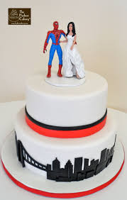 spiderman nyc skyline wedding cake fondant cake images
