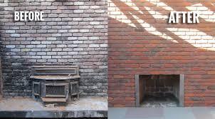 Cleaning Bricks On Fireplace by Crystal Soda Blast Soda Blasting
