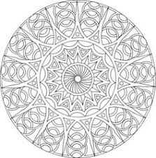 detailed coloring pages adults beautiful geometric