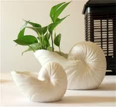decoration huge conch ceramic vase flower indoor planter ideas