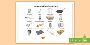 cooking utensils word mat french ks2 french resources word