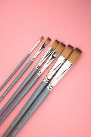 6 pcs oil paint brush ai hu color artist brushes pen gouache paint