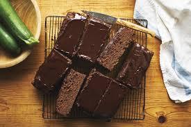 chocolate sour cream zucchini cake with chocolate glaze recipe