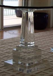 acrylic dining table base impressive acrylic lucite furniture muniz cocktail dining and end