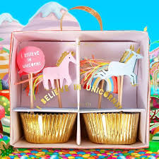 unicorn cake topper cupcake kit unicorn cake toppers and cases birthday muffins