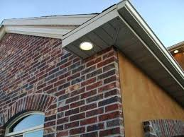 outdoor under eave lighting outdoor recessed lights led amto info