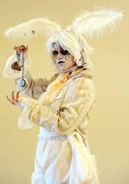 Scary Alice Wonderland Halloween Costume Creepy Rabbit Alice Wonderland 2012 2013 White