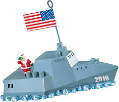 2016 navy santa carlton ornament from american greetings at