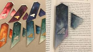 unique bookmarks cosmiccathedral watercolor laminated bookmarks by antonio