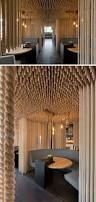 cardboard room divider creative ideas for room dividers suspended ropes give diners at