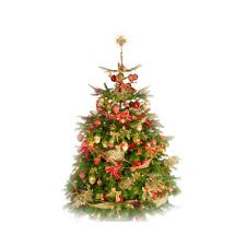 deluxe decorated christmas tree pines and needles