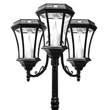 outdoor light post fixtures victorian solar lamp series u2013 triple lamp post gs 94t gamasonic