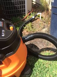 ridgid home depot wet dry vac black friday 2009 cleaning air conditioner drain line and troubleshooting power cut
