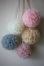 i think this is a better way of tulle pom poms sewing and
