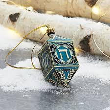 cloisonne dreidel hanukkah ornament crate and barrel