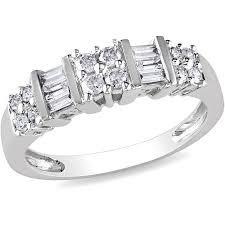 baguette wedding band miabella 1 2 carat t w and baguette cut diamond wedding