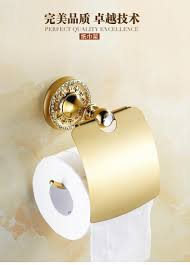new luxury wall mounted crystal u0026 brass gold paper box roll holder