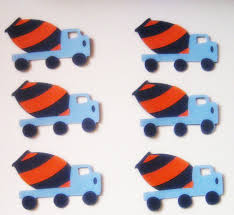 cement truck paper die cuts scrapping your way