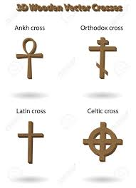 russian orthodox crosses wooden vector crosses 3d illustration russian orthodox