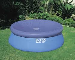 8 ft pool cover intex easy set pool cover only 17 99