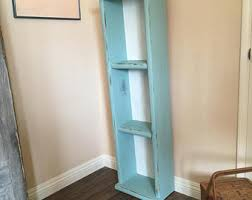White Cottage Bookcase by Distressed Bookcase Etsy